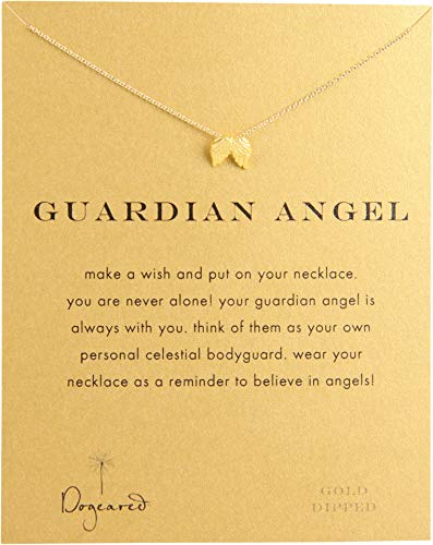 Dogeared Angel Necklace - Dogeared Women's Guardian Angel Reminder Necklace Gold Dipped One Size