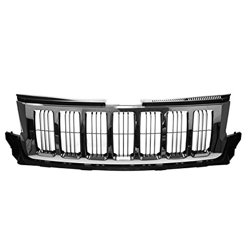 ront Grill Grille Assembly Chrome w/Black Insert 55079377AE ()