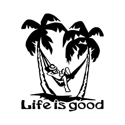 Amazon Com Life Is Good Sticker Dc359 Windshield Decal Window Car