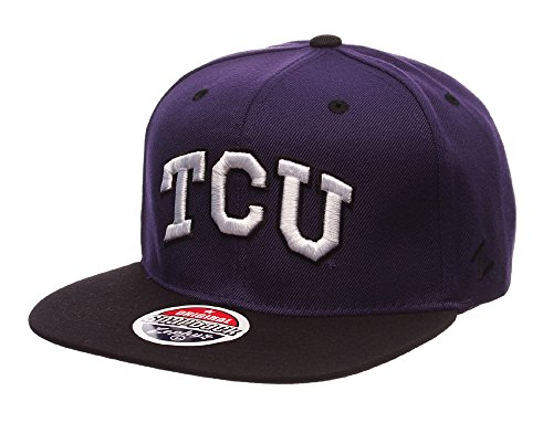 TCU Horned Frogs Zephyr Z11 Snapback Cap Hat Purple - Horned Snapback