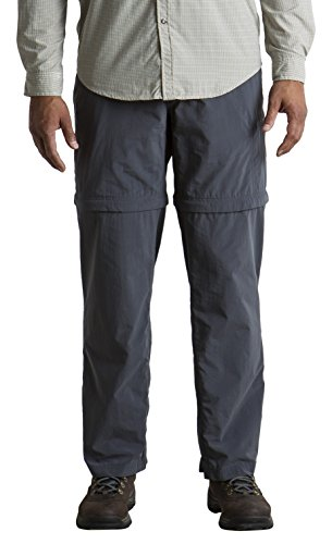 Shorts Officio Hiking Ex (ExOfficio Men's BugsAway Sol Cool Ampario Convertible Hiking Pants, Short, Carbon, Size 36)
