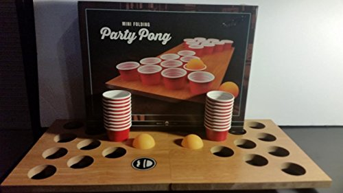 Mini Portable Folding Beer Pong by Ross & Rye Cheers!