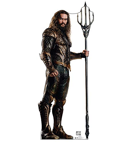 Advanced Graphics Aquaman Life Size Cardboard Cutout Standup - Justice League (2017 Film) -