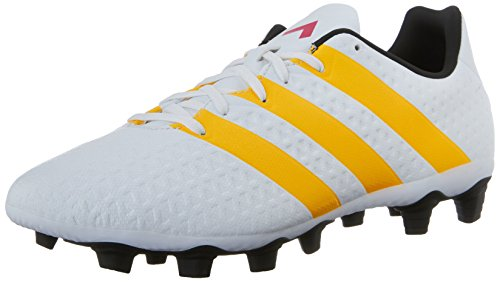 adidas Performance Women's Ace 16.4 FXG W Soccer Shoe,White/Gold/Black,6.5 M US