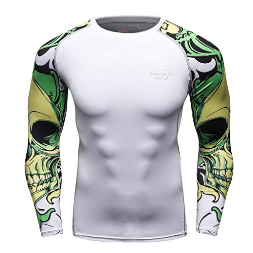HeatGear Armour Compression Shirt,Londony  Men's Workout Compression Shirt Gym Fitness Baselayer Compression Top