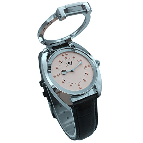 ile Watch--Battery Operated(Leather strap, pink dial) (Stainless Steel Steel Battery)