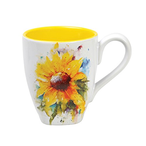 Demdaco 3005050982 Big Sky Carvers Sunflower Mug, Multicolored