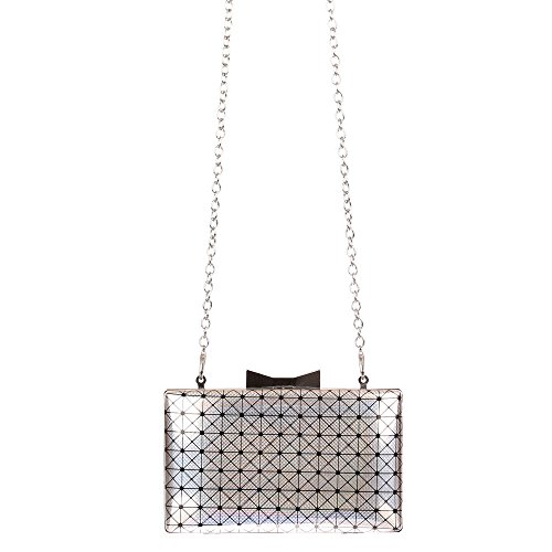 Ital-DesignClutch-tasche Bei Ital-design - Bolso de botón Mujer plata