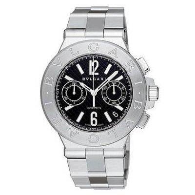 (Bvlgari Diagono Chronograph Automatic Mens Watch DG40BSSDCH)