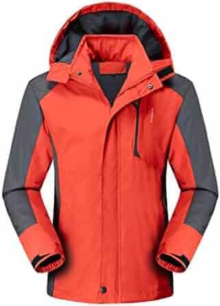 YUNY Women Zipper Slim Casual Ultra-Light Waterproof Puffy Jacket M