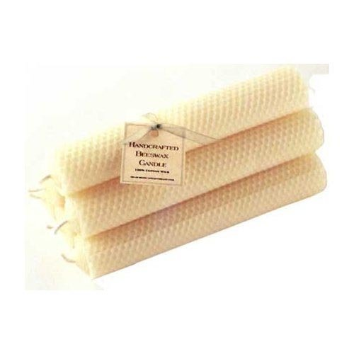 ArtisanStreet's Hand-Rolled Beeswax Honeycomb Tapers. Set of 12 Candles Measuring 6 Inches. Creamy Dripless, Long Burning Perfectly to End. Providing Warm Glow & Subtle Honey Fragrance. Limited Edition. (Artisanstreets Set)