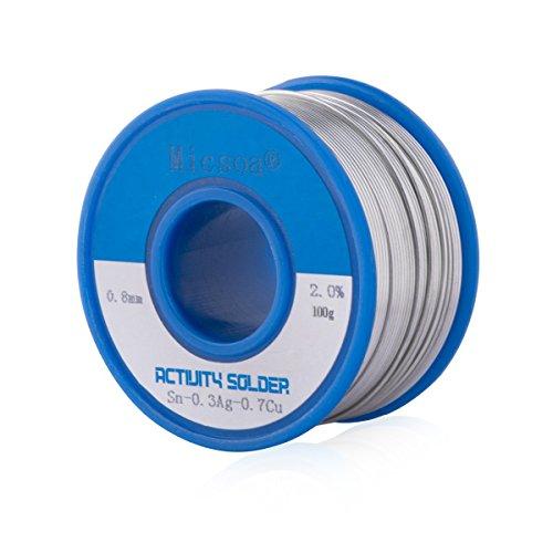 Micsoa Lead Free Rosin Core Solder Wire, Flux Core Welding Wire, 0.03inch, Sn99 Ag0.3 Cu0.7,Flux: 2% (3.5oz)