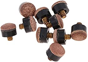 Hard 10 Screw-On Replacement Tips for Pool Cues 12mm