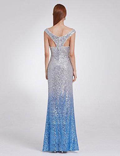 Sirena Noche Azul Cuello Vestidos Elegantes de Mujer de para Vestido Hielo V Pretty de Ever Vestido Noche de 8999 fFZqZO