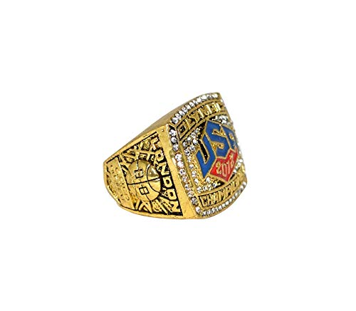 USA BASKETBALL TEAM (Lebron James) 2012 OLYMPIC WORLD CHAMPIONS (London Gold Medal) Rare Collectible High Quality Replica USA Gold Championship Ring with Cherrywood Display Box
