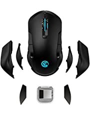 GameSir GM300 Wireless Gaming Mouse, Rechargeable USB Computer Mouse with Breathing Backlit, (400-16000)5 Adjustable DPI Levels for PC, Computer, Macbook Gaming Players