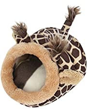 Stheanoo Cute Animal Hamster Rat Hedgehog Squirrel House Guinea Pig Bed Nest Pad Cage (A)