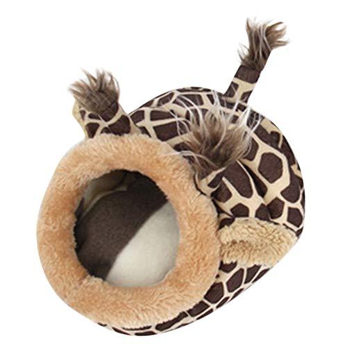 (YJYdada Cute Animal Hamster Rat Hedgehog Squirrel House Guinea Pig Bed Nest Pad Cage)