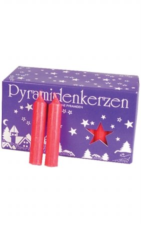 UPC 821692002703, EWA 29314R German Candle for Pyramids44; Red - Medium