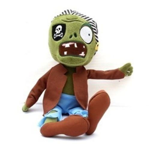 Plants Vs Zombies 2 PVZ Figures Plush Baby Staff Toy Stuffed Soft Doll (Pirate -