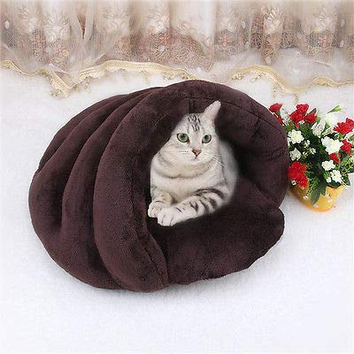 Brown One Size Brown One Size FidgetGear Kitten Cat Dog House Puppy Cave Pet Sleeping Bed Mat Pad Igloo Nest Brown One Size