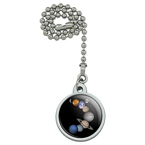 (GRAPHICS & MORE Solar System Planets Mercury Venus Mars Earth Moon Jupiter Saturn Uranus Neptune Ceiling Fan and Light Pull Chain)