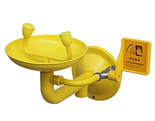 (Stainless Steel Wall Mounted Emergency Eyewash Eye Washer Eyewash Station Eye Shower Eye Wash Safety Shower Face Shower Double Mouth with ABS anticorrosion Coating )
