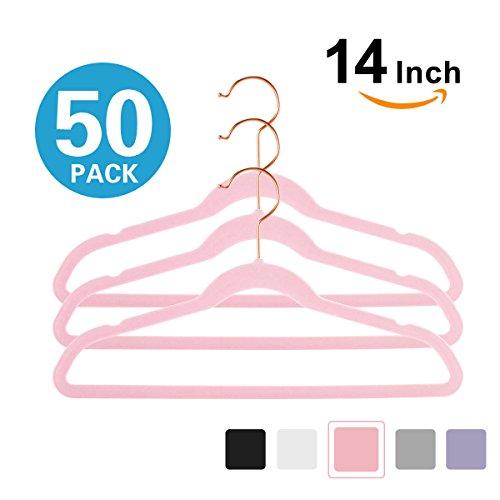 Premium Kids Velvet Hangers (Pack of 50) 14