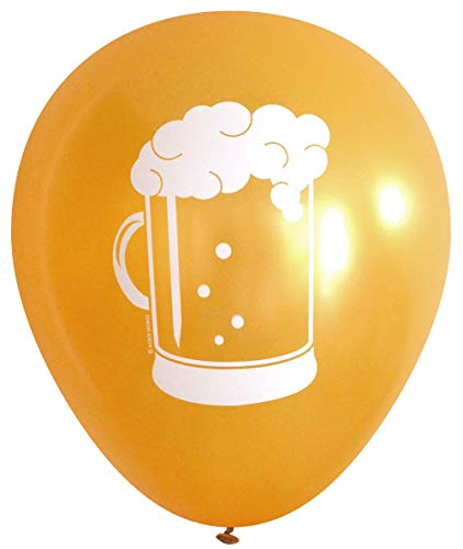 Beer Stein Latex Balloons (16 pcs) by Nerdy