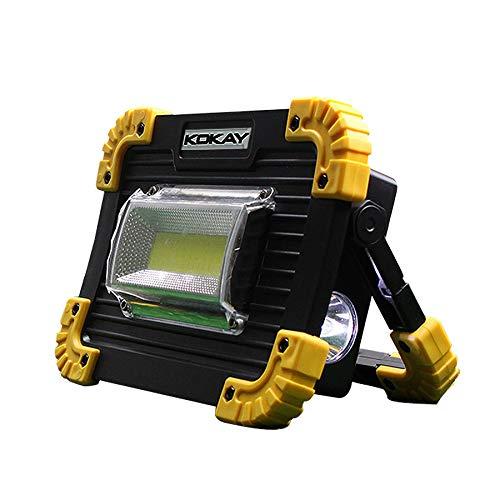 Lanterna LED 20W Luz de alerta Bateria Portátil para Camping