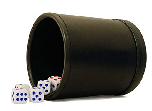 Leather Dice Poker Black Pack