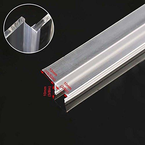 1 Glass Shower Door - Glass Shower Door Seal Strip, Frameless Shower Door Gasket for 3/8