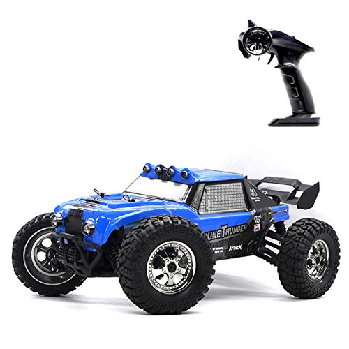 RC Car with LED Lights, Keliwow 1:12 Scale 4WD 25 MPH Waterproof High Speed Off-Road RC Desert Buggy 2.4GHz Remote Control RC Car RTR (#12891-Blue)