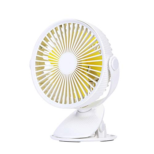 (JJLIKER Battery Operated Fan, Clip on and Desk Fan, Personal Portable Fan with 3 Speeds, Rechargeable, 360 Degree Rotation, 2000mAh Battery, Powerful Wind for Baby Stroller Outdoor Office)
