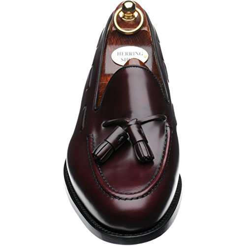 Herring Aringa Marrone Ii Barcelona Bordeaux 44 Polished Tasselled burgundy In Lucido Mocassini 4pq4wrxd7