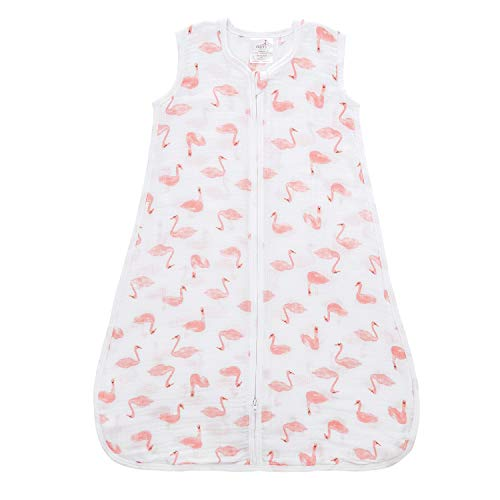 Aden by aden + anais Classic Sleeping Bag, 100% Cotton Muslin, Wearable Baby Blanket, Small, 0-6 Months, Briar Rose - Swans