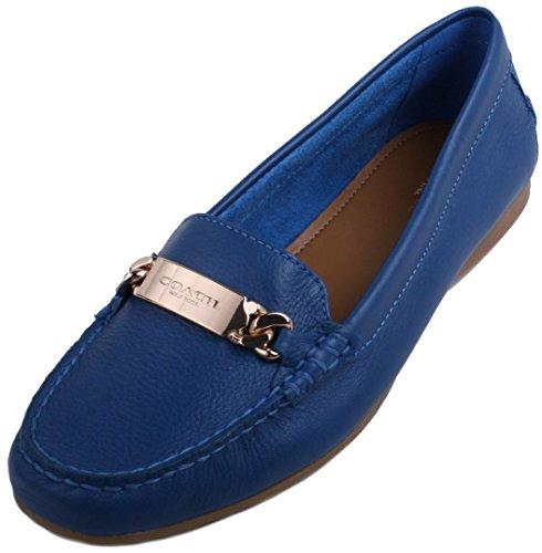 Coach Women's Olive Denim Pebble Grain Leather Shoe