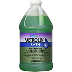 Farnam Vetrolin Bath Hydrating Coat Conditioning Shampoo | for Horses, Ponies and Dogs | 64 oz