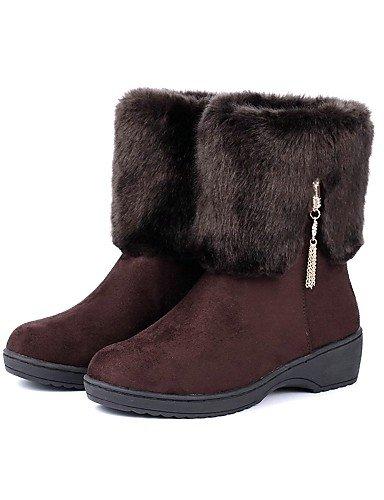 Zapatos Redonda Mujer Cn39 us8 Marrón Cn40 us8 Negro De Botas Punta Eu39 Brown 5 Vellón Casual 5 Uk6 Nieve Vestido Black Uk6 Xzz Comfort Rojo Plataforma 8fwd8n4