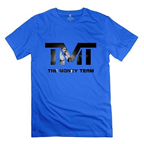 C-DIY Men's Tshirt Vintage Tmt Manny Pacquiao Boxing L RoyalBlue