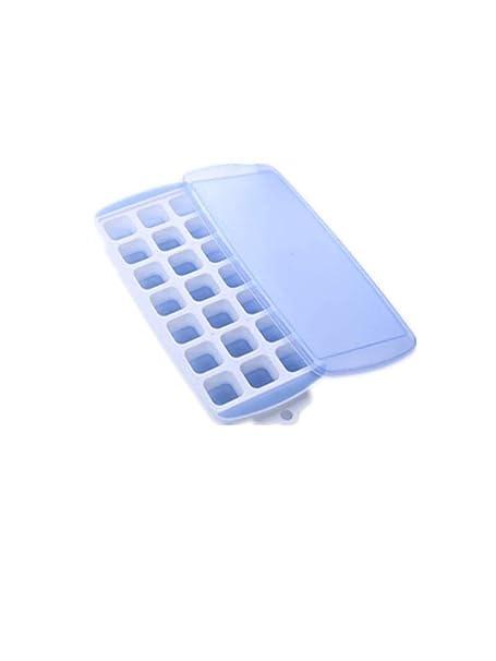 Cubo de hielo de silicona con tapa Nevera doméstica creativa Cubo ...
