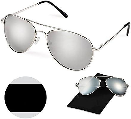 19e6f61c70 Amazon.com   WITERY Full Mirrored Metal Frame Polarized Classic Aviator  Sunglasses Flat Matte Lens   Sports   Outdoors