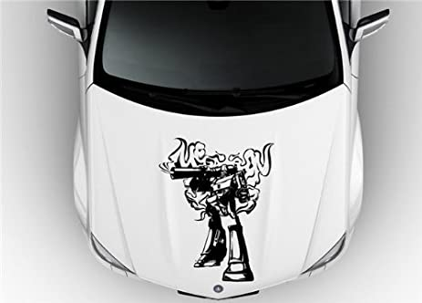 Megatron transformers v2 decal sticker hood vinyl graphic car 003