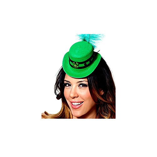 Mystery House Costumes St. Patrick Mini Hat, Green, One Size