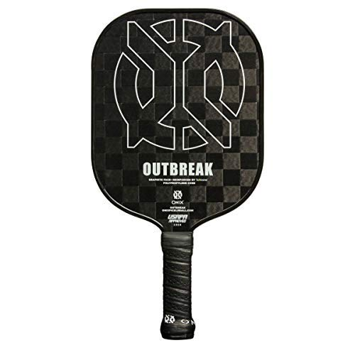 Onix Outbreak Graphite Pickleball Paddle - Pickleball Racket for Beginners and Professionals (Black)