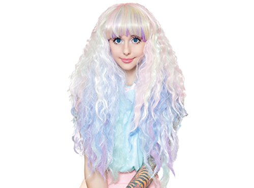 Cosplay Wigs USA Rock Star Wigs  Extra Long Curly 90cm/36