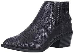 Dv By Dolce Vita Women S Knock Ankle Boot Black Snake Stella 9 5 M Us