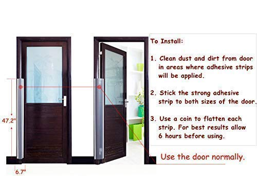 AILUOQI Door Shield Finger Pinch Guard for Baby Proofing, Kids, Pets, Hinge Cover Pinch Guard for 90 & 180 Degree Doors & Baby Gate. Roll-up Design 47.2''H, 6.7''W. 2 Pieces Set by I-ROCKET (Image #5)