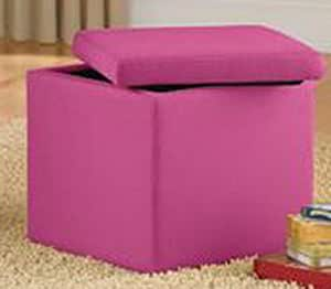 pink faux suede storage ottoman the stool