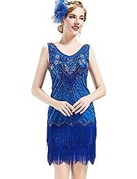 Women's Flapper Dresses 1920s V Neck Beaded Fringed Great...